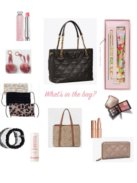 What is in my purse? Here ya go. Purse, bag, lipstick, mask, charger, makeup. #purse #bag #mask #lips #charger http://liketk.it/35fus #liketkit @liketoknow.it #LTKunder50 @liketoknow.it.family #LTKitbag #LTKtravel