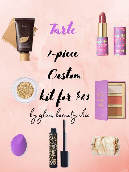 http://liketk.it/3hQ0W #liketkit @liketoknow.it tarte sale custom kit 7 piece for $63 & free shipping  #LTKbeauty #LTKunder100 #LTKsalealert Shop my daily looks by following me on the LIKEtoKNOW.it shopping app  Makeup, foundation, eyeshadow, cheeks blush palette, highlighter, bronzer, lipstick butter, maneater mascara, makeup sponge, makeup pouch, marbled