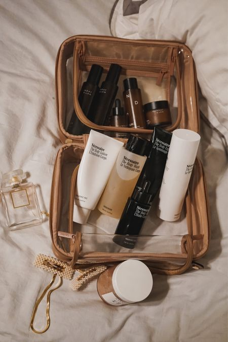 I keep all of my skin care in the Calpak clear cosmetic case. I don't travel without it. It allows me to carry the full size products I'm used to.   #LTKbeauty #LTKunder50 #LTKtravel