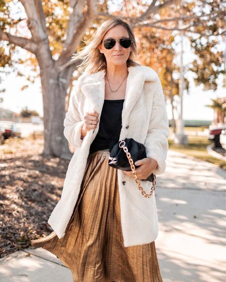 Sharing 3 great fall jackets from Walmart (including this one 😍) over on the blog. Y'all, how good is this faux fur coat for the holidays? Super soft and under $50    #LTKSeasonal #LTKHoliday #LTKunder50