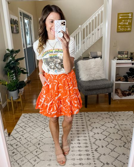 Skirt: XS Tee: XS Shoes: TTS   Follow me on the LIKEtoKNOW.it shopping app to get the product details for this look and others http://liketk.it/3gVSK   #liketkit @liketoknow.it #LTKunder50 #LTKshoecrush