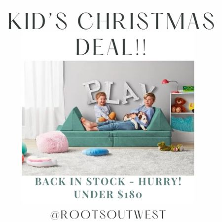 I snagged this play couch that restocked as a Christmas gift for my toddlers. Order quick, this goes fast!  #LTKkids #LTKHoliday #LTKGiftGuide