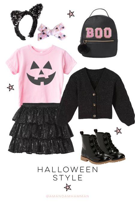 Halloween, fall, boo, black boots, sequins, kids   #LTKfamily #LTKkids #LTKSeasonal