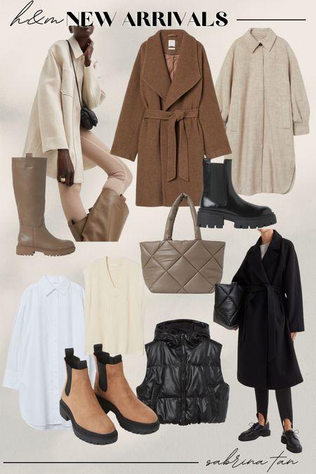 H&M fall new arrivals, coats, shackets, Chelsea boots, vest   #LTKstyletip #LTKunder100 #LTKSeasonal
