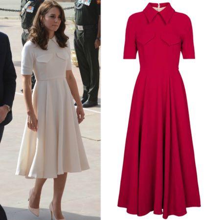 Kate wearing Emilia Alice dress #formal #tealength #retro  #LTKeurope