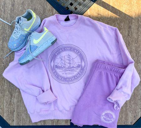 #pacsun #sweatshirt #pullover #shorts #lounge #loungewear #summeroutfit #beachvacation #oversizedsweatshirt #sneakers #nike #nikesneakers #nikewomen   #LTKunder50 #LTKshoecrush #LTKSeasonal