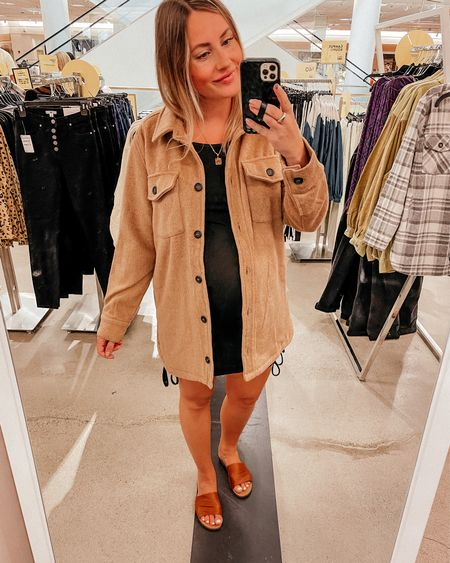 Nordstrom anniversary sale  shirt jacket - super soft and cozy on the inside! Wearing a S Shackets  Fall outerwear   #LTKunder50 #LTKsalealert