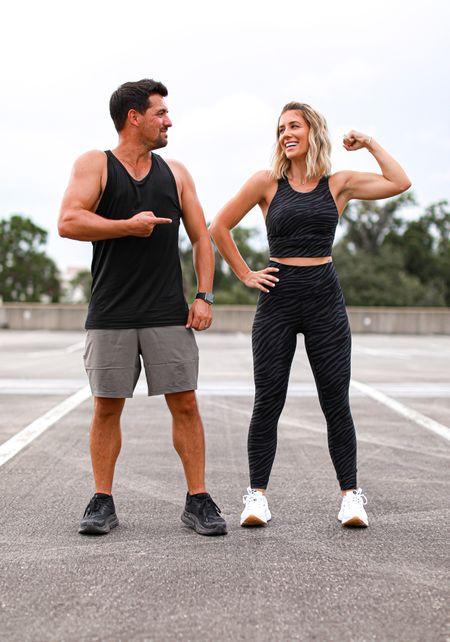 Lululemon workout outfits Long sports bra size 6 Leggings size 4  Men's tank size m Shorts size m  #laurabeverlin #lulu   #LTKsalealert #LTKfit #LTKunder50