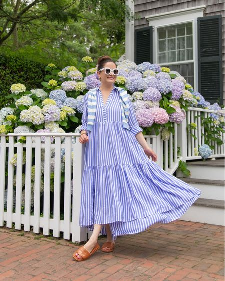Love this blue stripe tiered midi dress from vineyard vines! @liketoknow.it http://liketk.it/3jPFp #liketkit #LTKstyletip #LTKsalealert #LTKunder100