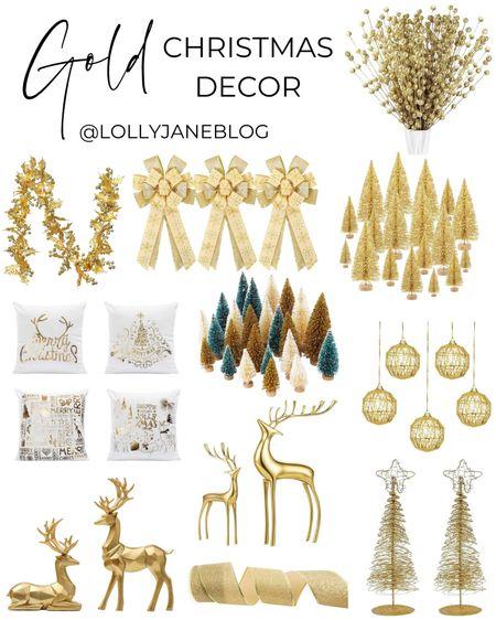 Gold Christmas Decor!  Lolly Jane | #lollyjane  #LTKunder50 #LTKHoliday #LTKsalealert