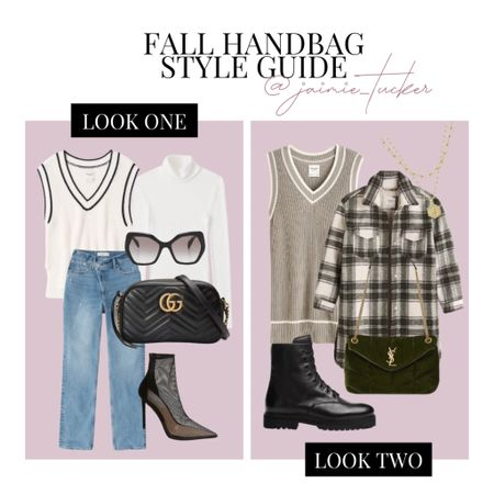 How to style a handbag in the fall with sweater vests! check out some inspo here. | #sweatervests #sweaterdress #falldress #styleguide #dinneroutfit #everydaywear #casualoutfit #falloutfit #fallcoats #fallboots #workoutfit #workwear #JaimieTucker  #LTKtravel #LTKstyletip #LTKSeasonal