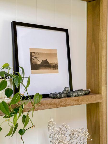 Love these slim frames and glass beads for home decor in the dining room shelves!   #LTKunder50 #LTKhome #LTKunder100