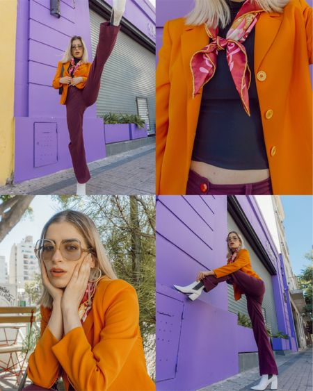 One of my favorite color combinations at the moment 💜🧡 Get the look by following me on the @liketoknow.it app! http://liketk.it/37SWB #liketkit #LTKunder100 #LTKstyletip #LTKSeasonal