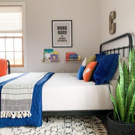 Our oldest son's woodland themed bedroom. Kids room inspo.   #LTKhome #LTKkids #LTKfamily