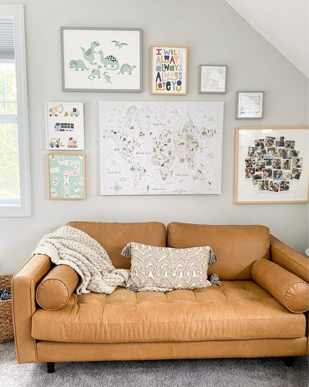Our playroom gallery wall is officially finished, thanks to @Minted ! I love their selection of children's art for a playroom, bedroom, or learning area, especially with kids heading back to school soon! Use code LAURENFRAMES20 for 20% off framing for kids art. Linking up the art I chose here: http://liketk.it/3jTlQ #liketkit @liketoknow.it  #MintedArt #MintedRefresh #Minted #ad