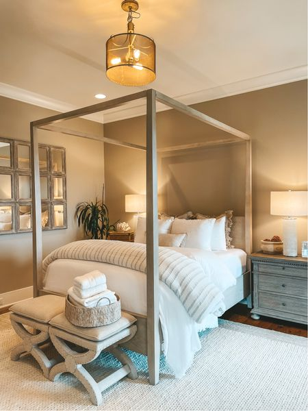 Guest bedroom bedding and decor     #LTKhome