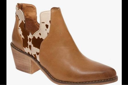 The cutest cow print detail . bootie!! 39.99! Perfect for a Christmas gift   #LTKHoliday #LTKGiftGuide #LTKSeasonal