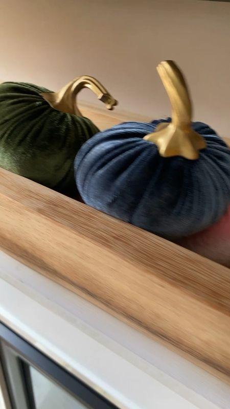Fall home decor 🎃  10 velvet pumpkins for $10. Great quality + perfect for fall.  . . . #falldecor #fall #homedecor #home #decor #fallstyle #pumpkins #vasefiller #woodenbowl #targetstyle #target #targeyfinds #velvet #velvetpumpkins   #LTKunder50 #LTKhome