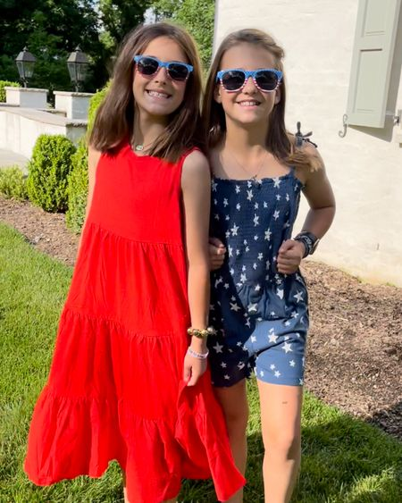 Red white and blue coordinating Memorial Day outfits for the girls in your life  http://liketk.it/3gnIi #liketkit @liketoknow.it #LTKsalealert #LTKfamily