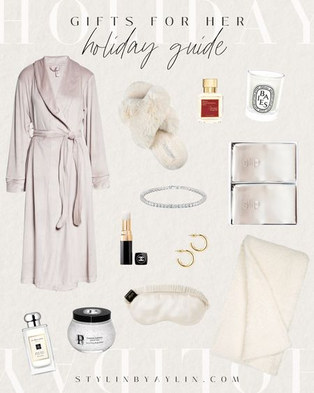Holiday gift guide, holiday gifts for her, cozy gifts, gift guide, #StylinByAylin   #LTKGiftGuide #LTKbeauty #LTKHoliday