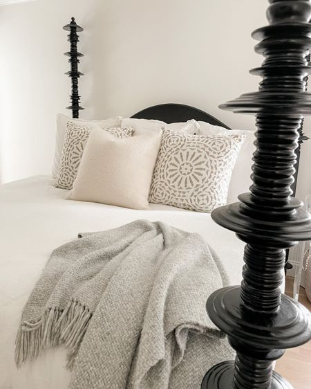 Bedroom decor, bedroom rug is vintage. http://liketk.it/3ho6H #liketkit @liketoknow.it #LTKhome #bed #bedding #bedroom