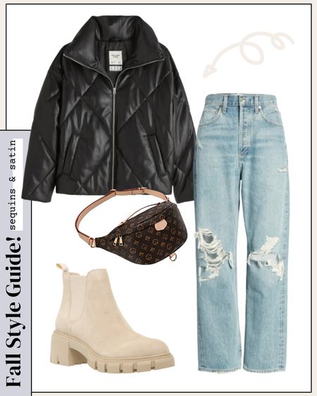 Fall outfit idea! Designer inspired bag totally completes the look! #falloutfits #fallfashion #boots #booties #jeans #outfitinspo #designerinspired #nordstrom #abercrombie #dsw #amazonfashion #amazonfinds   #LTKitbag #LTKSeasonal #LTKshoecrush