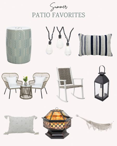 These are some of my patio favorites for Walmart's Deals For Days sale. They have lots of lovely pieces perfect for summer outdoor living.   Don't forget to double tap this post to save it for later.   Follow me for more ideas and sales.   #LTKSeasonal #LTKsalealert #LTKhome