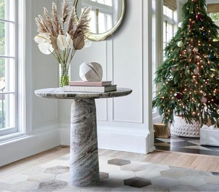 A chic and festival entryway.   #LTKhome #LTKHoliday