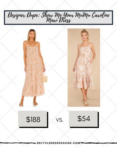 🚨DESIGNER DUPE: Show Me Your Mumu Caroline Maxi Dress- Only $54🚨 | Look for Less | Designer Dupe | Designer for Less | Red Dress Boutique | Maxi Dress | Show Me Your Mumu | Under $100 | Summer Dress | Fall Fashion |   #LTKsalealert #LTKunder100 #LTKstyletip