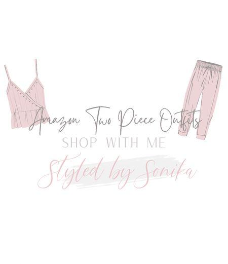 Amazon two piece outfits Amazon fashion   #LTKstyletip #LTKunder50 #LTKsalealert