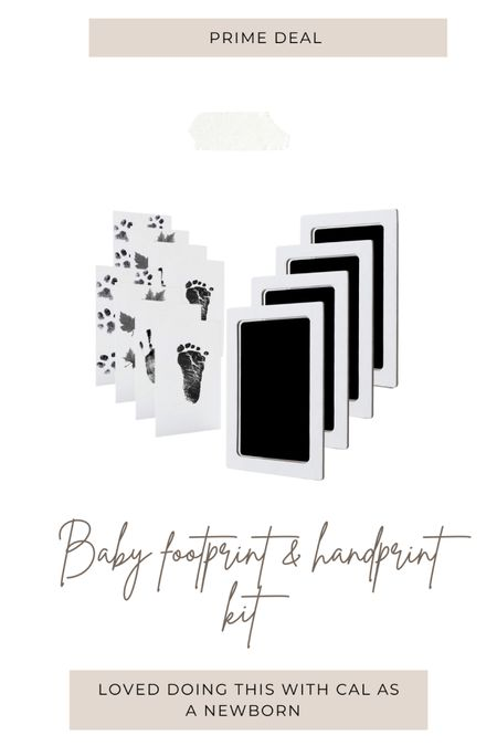 Footprint & handprint kit for newborn. Super cute idea to have the memories 💛 prime day sale http://liketk.it/3ic1W #liketkit @liketoknow.it #LTKbaby #LTKsalealert #LTKkids