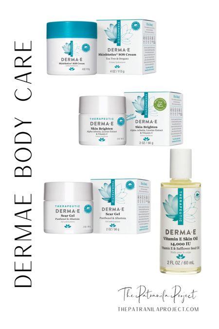 Derma•E body care. Scar gel, Skin Brighten, Skinbiotics SOS Cream, Vitamin E Skin Oil http://liketk.it/3dUao #liketkit @liketoknow.it #LTKbeauty #LTKunder50 #LTKsalealert