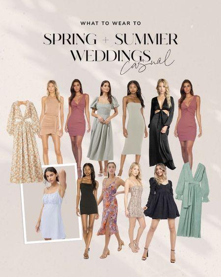 summer weddings casual, wedding guest dress #wedding #weddingguest #weddingdress #dress http://liketk.it/3falf #liketkit @liketoknow.it #LTKunder100 #LTKwedding #LTKunder50