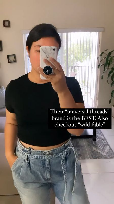 Best basic tees from Target ! Im wearing this cropped tee in size XXL . They run a bit small. Im usually size L or XL! Jeans im wearing size 11  #LTKsalealert #LTKstyletip #LTKunder100
