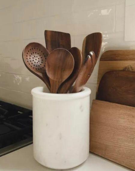 Marble kitchen utensil #home   #LTKhome