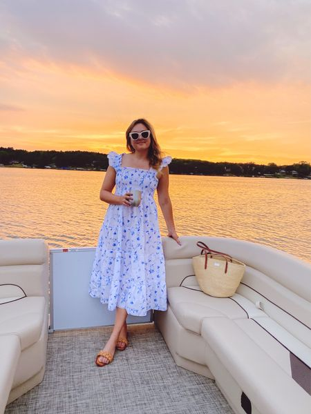 Wearing a Small in this nap dress! My straw tote is old from Clare V but linking a few similar styles. Amazon sandals under $30!  #LTKSeasonal #LTKshoecrush #LTKtravel