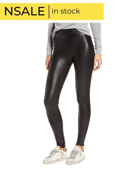 Nsale Spanx faux leather leggings   #LTKunder100 #LTKstyletip #LTKsalealert