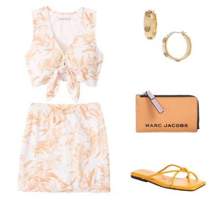 Matching skirt and top set paired with orange wallet and sandals. Perfect outfit for the summer! 🧡   http://liketk.it/3jdzi #liketkit @liketoknow.it  #LTKbrasil #LTKaustralia #LTKcurves #LTKeurope #LTKsalealert #LTKstyletip #LTKitbag   #LTKshoecrush #LTKunder100 #LTKunder50