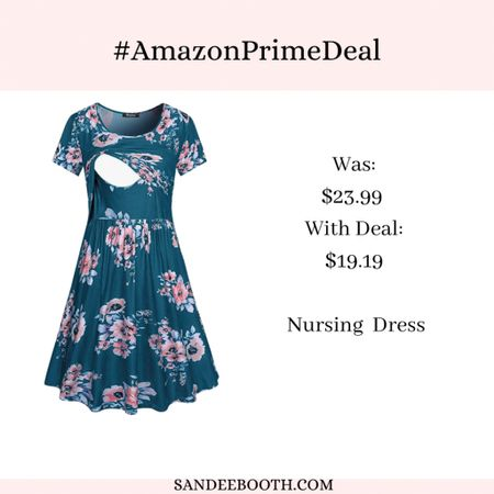 Need a breastfeeding friendly dress?! This one is perfect! And it's on sale!   #LTKbump #LTKunder50 #LTKbaby