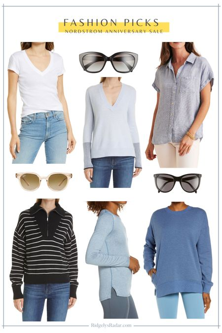 Sweater, pullovers, t-shirts and tops are on Sale at the Nordstrom Anniversary Sale!  #nsale #nordstromsale #nordstromanniversarysale #shop #fashion #sunglasses #sweaters #tops #tees   #LTKsalealert #LTKstyletip #LTKunder100