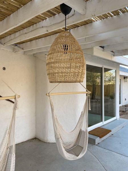 Pendant light, basket light, outdoor lighting, boho decor