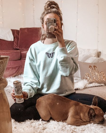 Perfect summer sweatshirt, thank you Hollister! Soft like butter, but light weight enough to wear in the warmer weather. Side note frenchie and white claw not included. ✌🏻💗  Shop my daily looks by following me on the LIKEtoKNOW.it shopping app!   @liketoknow.it #liketkit http://liketk.it/2PXzM #StayHomeWithLTK #LTKunder100 #LTKstyletip