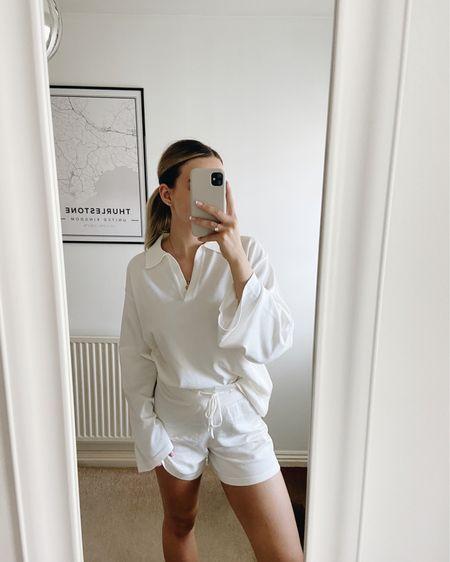 Another version, pheebslfashion, AVxPHEEBSLFASHION, coord, white loungewear, wfh styling, comfy fashion, loungewear set http://liketk.it/3i7am #liketkit @liketoknow.it
