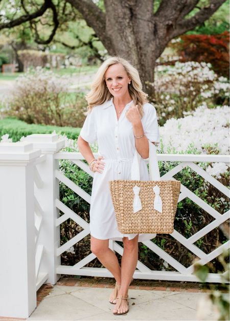 Sale Alert! 30% off this adorable shirt dress that comes in a navy stripe also! Soft, sun protective fabric from the best. Runs a little bigger so size down. Get it fast with the code SWIM30 through July 27 11:59PM/ET.  #LTKswim #LTKstyletip #LTKsalealert