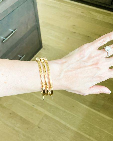 Gold bangles / arm stack / bracelets 15% off with code karen   http://liketk.it/3k74i #liketkit @liketoknow.it #LTKunder50 #LTKunder100 #LTKsalealert