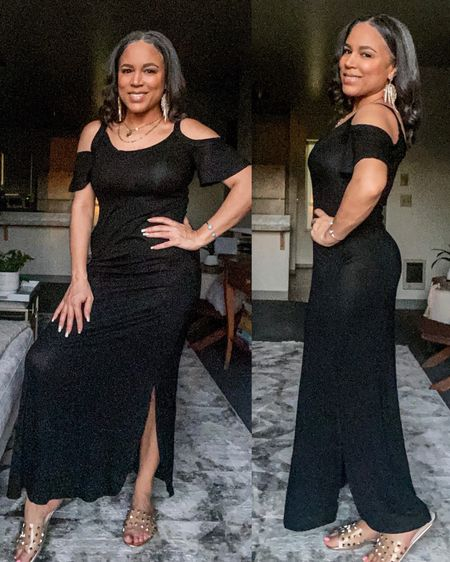 I love this black maxi dress from Amazon.  It is very comfortable and it has pockets. It's less than $20 and I'm wearing a sz small. It is a bit see through, just FYI. http://liketk.it/3f7lP #liketkit @liketoknow.it