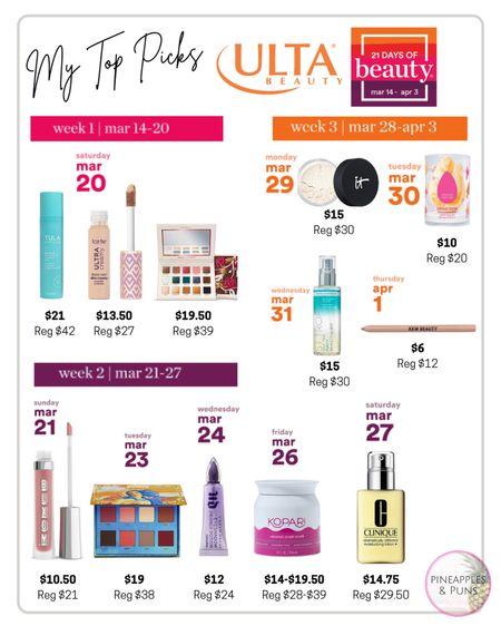 @ulta 21 Days of Beauty sale!! 50% off some incredible products!! http://liketk.it/3aRoJ #liketkit @liketoknow.it