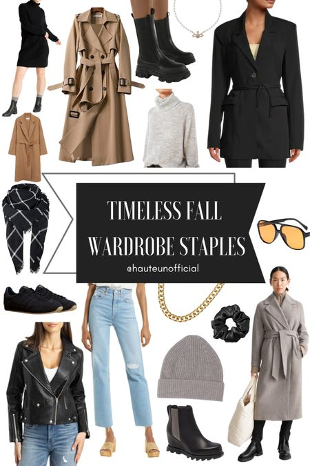 Timeless FALL WARDROBE STAPLES & OUTERWEAR:  These wool coats, chunky sweaters, blazers and boots are quality timeless staples for fall and winter! You'll find sweaters that are affordable cashmere, and vegan leather jackets that stand the test of time. Many are on sale including the blazer and camel wool coat. This trench coat is also under $20 right now!   #LTKSeasonal #LTKstyletip #LTKsalealert