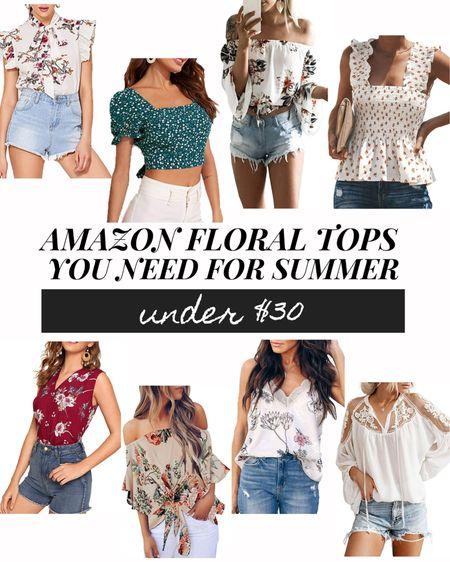 Floral Tops You Need For Sumer!  http://liketk.it/3fOjU #liketkit @liketoknow.it #LTKsalealert #LTKunder50 #LTKunder100