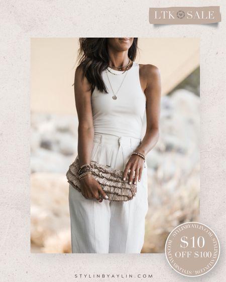 LTK DAY SALE- $10 OFF $100- USE LINKS HERE TO RECEIVE SALE DISCOUNT CODE- summer outfits, summer neutrals, summer wardrobe staples, bodysuit, vacation outfits,  StylinbyAylin @liketoknow.it #liketkit http://liketk.it/3hi06   #LTKDay #LTKsalealert #LTKunder50